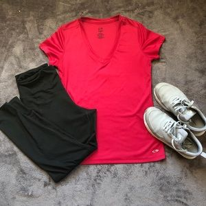 Champion Red Duo Dry T-shirt